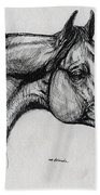 Arabian Horse Drawing 40 Bath Towel