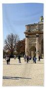 Arc De Triomphe Du Carrousel In Paris France  Bath Towel