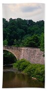 Arch Bridge Across Casselman River Bath Towel