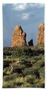 Arches National Park Sunrise Rock Formations  Bath Towel