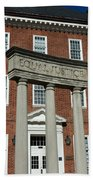 Architectural Columns With Equal Justice Bath Towel