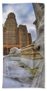 Architecture And Places In The Q.c. Series When The Lions Rest Bath Towel