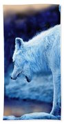 Arctic White Wolves Hand Towel