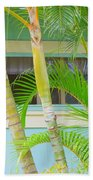 Areca Palms At The Window Bath Towel