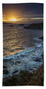 Ares Estuary Mouth Galicia Spain Bath Towel