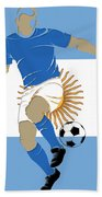 Argentina Soccer Player2 Bath Towel