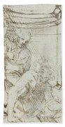 Aristotle And Phyllis Bath Towel