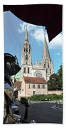 Armor And Chartres Cathedral Bath Towel