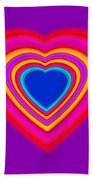 Art Heart Blue Bath Towel