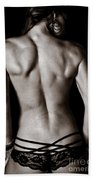 Art Of A Woman's Back Muscles  Bath Towel