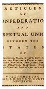 Articles Of Confederation, 1777 Bath Towel