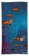 Artistic Butterflies Bath Towel