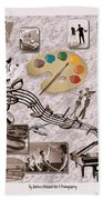 Arts Collage Bath Towel