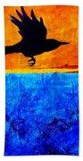 As The Crow Flies Bath Towel
