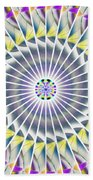 Ascending Eye Of Spirit Kaleidoscope Bath Sheet by Derek Gedney
