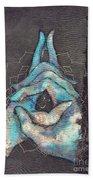 Ascension - Crown 'blue Hand' Chakra Mudra Bath Towel