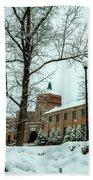 Asheville High School During Winter Bath Towel