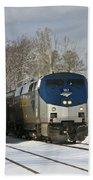 Ashland Trains In The Snow Bath Towel