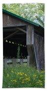 Ashtabula Collection - Riverdale Road Covered Bridge 7k02981 Bath Towel