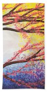 Asian Bloom Triptych 3 Bath Towel