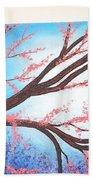 Asian Bloom Triptych Bath Towel