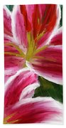 Asiatic Lily- Asiatic Lily Paintings- Pink Paintings Bath Towel