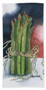 Asparagus In Raffia Hand Towel
