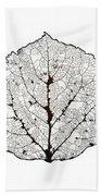 Aspen Leaf Skeleton 1 Bath Towel