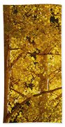Aspen Leaves Textured Bath Towel