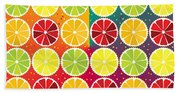Assorted Citrus Pattern Bath Towel