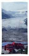 1m3734-athabasca Glacier W Original Icefields Chalet Bath Towel