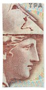 Athena On Banknote Bath Towel