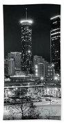 Atlanta Panoramic Black And White Bath Towel