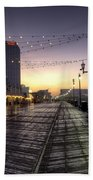 Atlantic City Boardwalk In The Morning Bath Towel