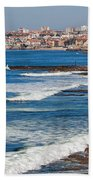 Atlantic Ocean Coast In Cascais And Estoril Bath Towel