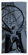 Atlas Rockefeller Center Poster Bath Towel
