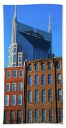 At&t Building And Historic Red Brick Bath Towel