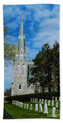 Augustinian Cemetery And Church Bath Towel