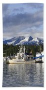 Auke Bay Harbor Bath Towel