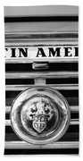 Austin America Grille Emblem -0304bw Bath Towel