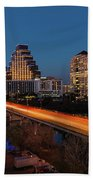 Austin, Texas Cityscape Evening Skyline Hand Towel