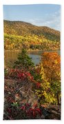 Autumn Along The Hudson Bath Towel