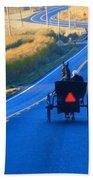Autumn Amish Buggy Ride Bath Towel