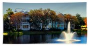 Autumn At Old Key West Resort Panorama Walt Disney World Hand Towel