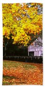 Autumn At Old Mill Bath Towel