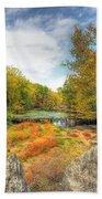 Autumn At The Creek - Green Lane - Pennsylvania - Usa Bath Towel