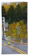 Autumn At Washington's Crossing Bridge Bath Towel