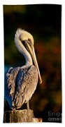 Autumn Brown Pelican Bath Towel
