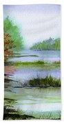 Autumn By The Lake  Bath Towel