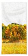 Autumn Canvas Bath Towel